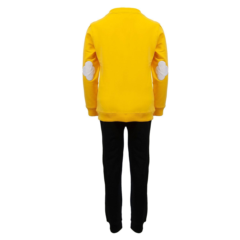 ست تیشرت و شلوار پسرانه طرح ابر کد 403 رنگ زرد -  - 4