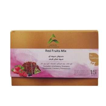 دمنوش میوه ای مخلوط آرسیس با طعم میوه های قرمز بسته 15 عددی