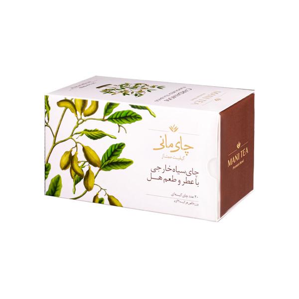 چای سیاه کیسه ای چای مانی با طعم هل بسته 20 عددی