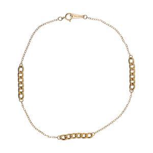 پابند طلا 18 عیار زنانه گالری یارطلا مدل C کد PA01