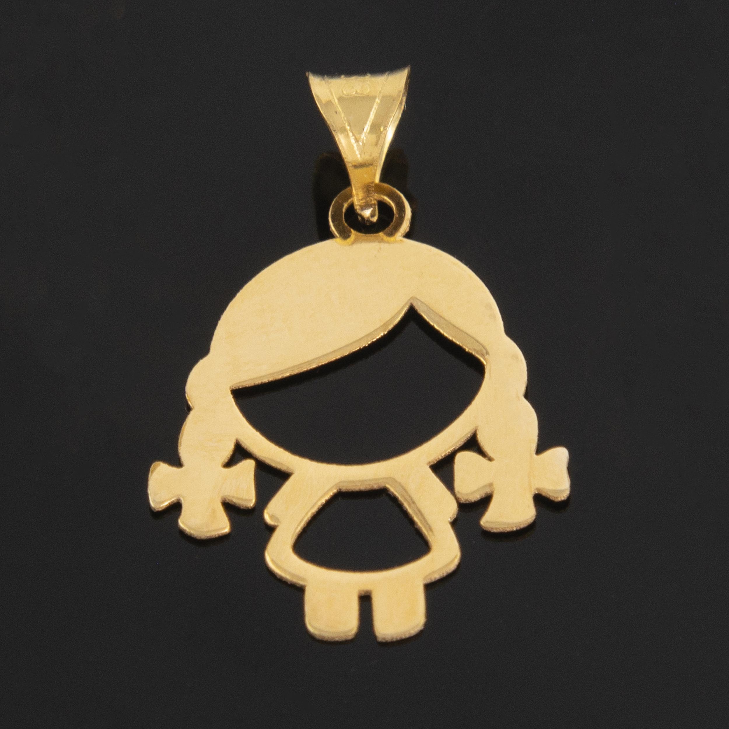 آویز گردنبند طلا 18 عیار دخترانه کد 675