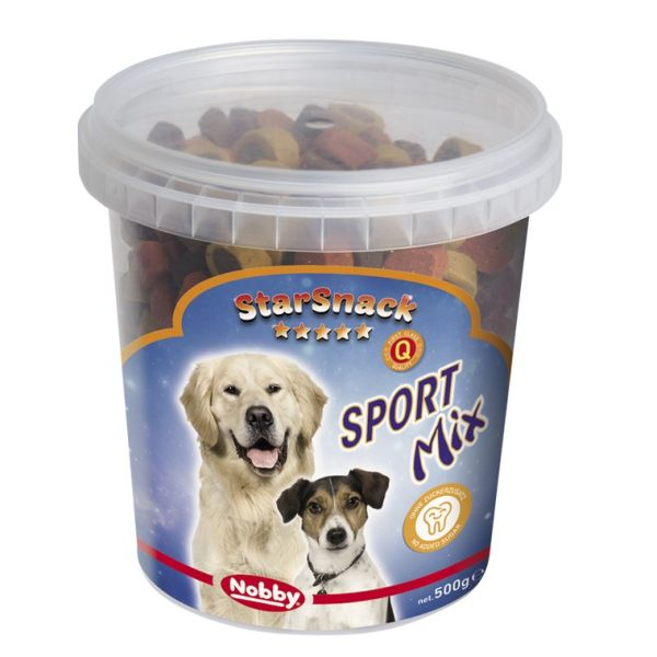 تشویقی سگ نوبی مدل sport starsnack mix وزن 500گرم
