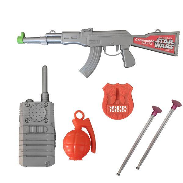 تفنگ بازی مدل کلاشینکف کد 3 مجموعه 6 عددی