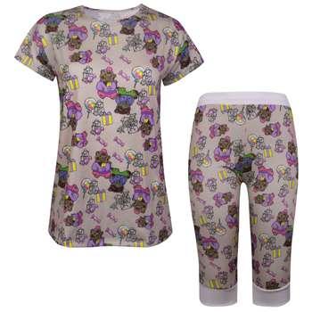 ست تی شرت و شلوارک زنانه ماییلدا مدل 3586-4