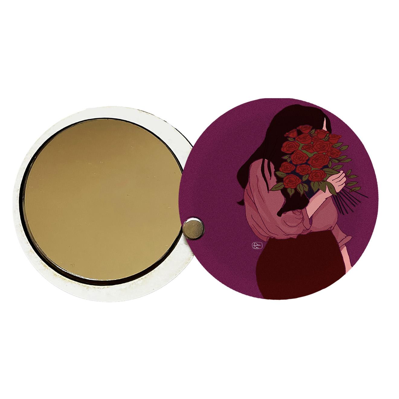 آینه جیبی طرح دخترانه کد ay71