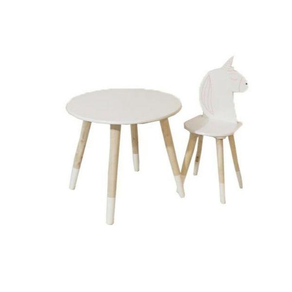 ست میز و صندلی کودک مدل اسب تک شاخ