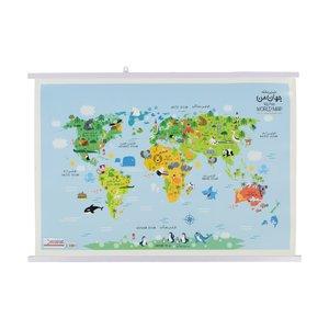 نقشه جهان کودک گیتاشناسی نوین کد ۱۶۱۳