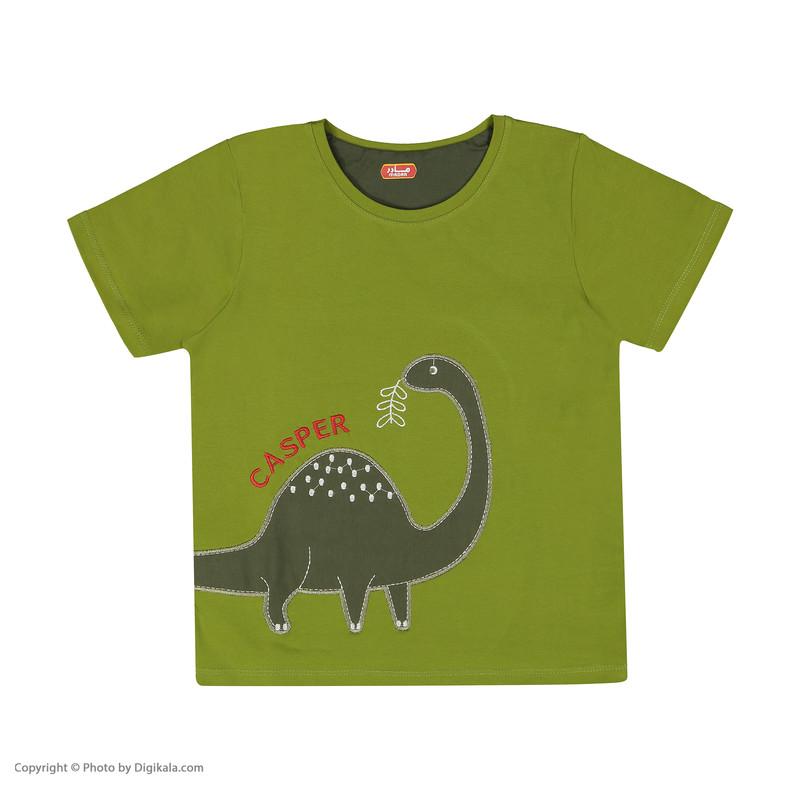 ست تی شرت و شلوار راحتی پسرانه مادر مدل 2041106-42