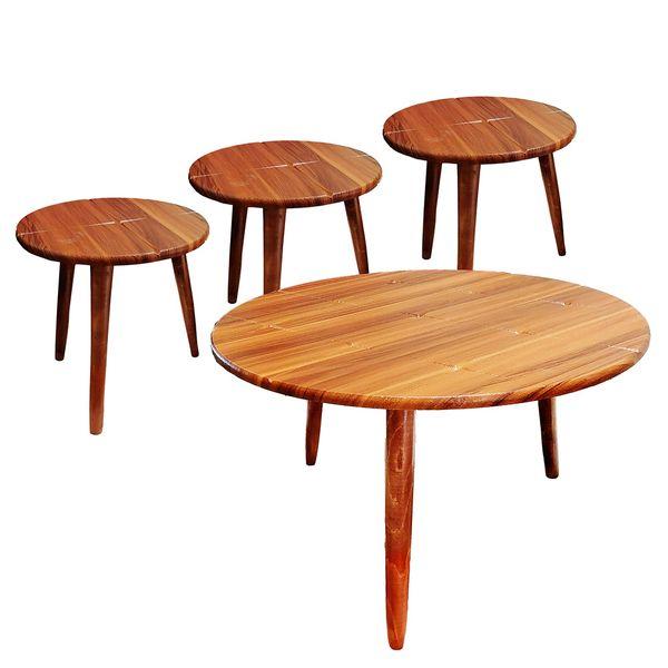 میز جلومبلی مدل میز پذیرایی مدل ارغوان کد 600 مجموعه 4 عددی
