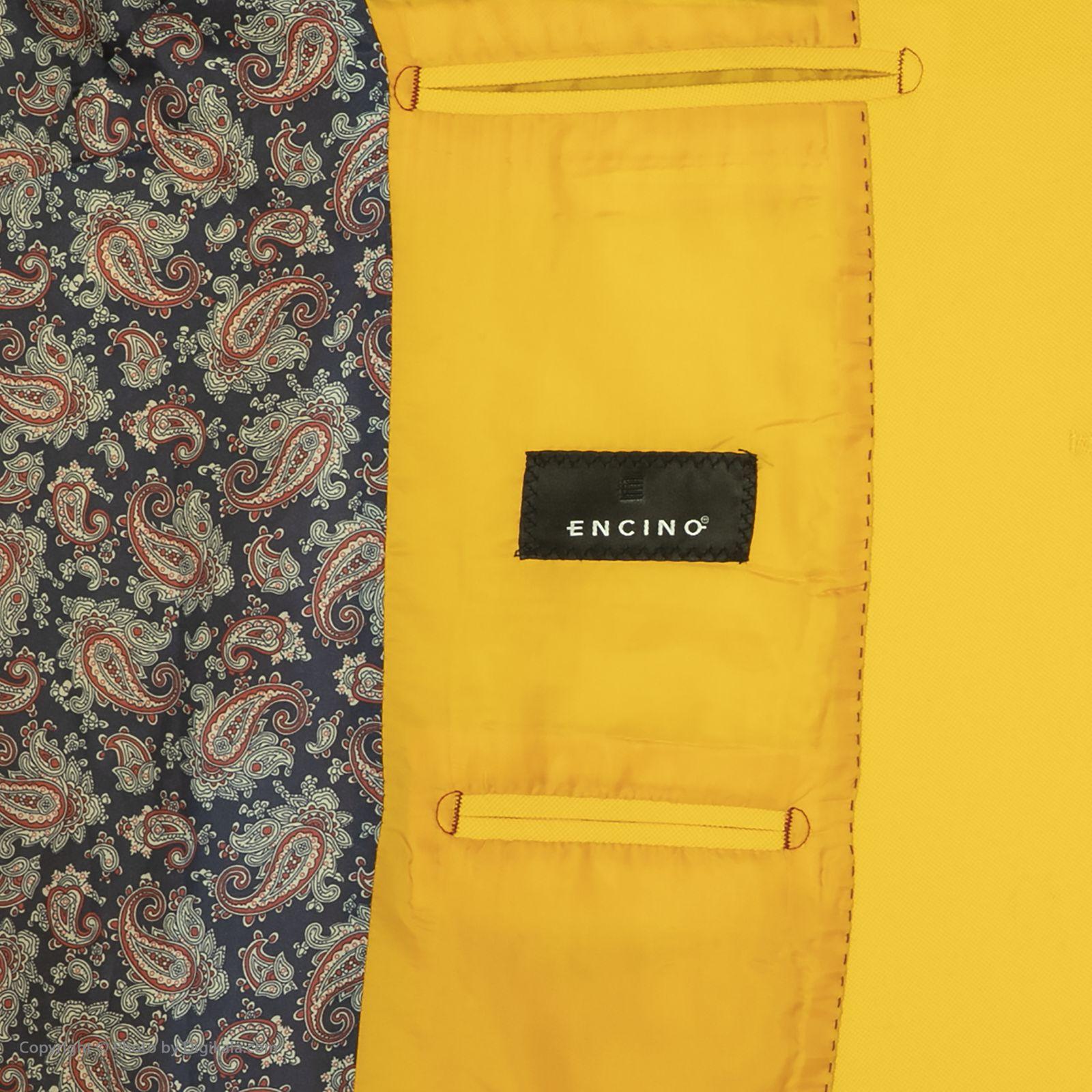 کت تک مردانه ان سی نو مدل جانسو رنگ زرد -  - 6