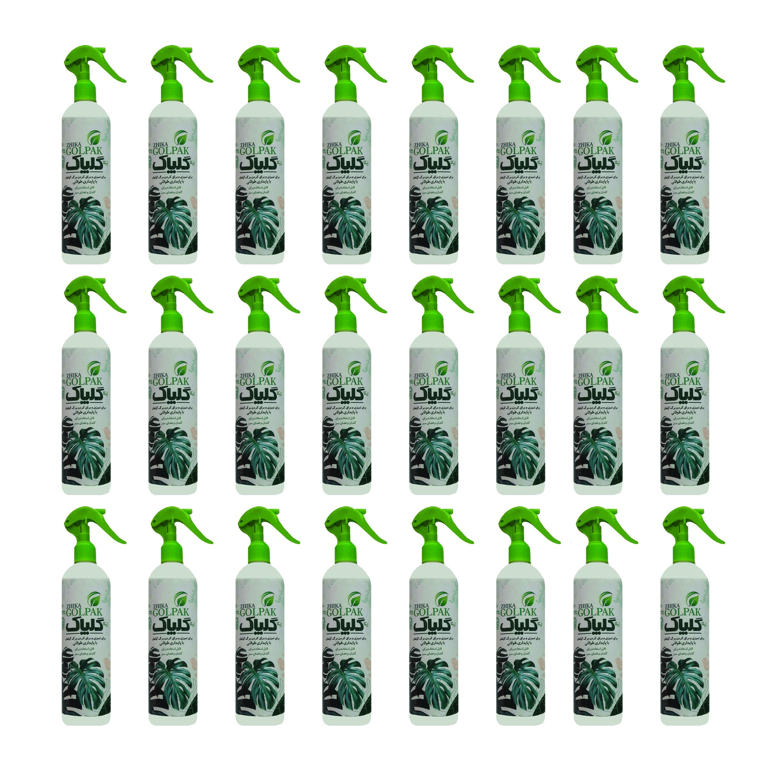 اسپری براق کننده گیاهان ژیکا مدل گلپاک حجم ۴۰۰ میلی لیتر بسته ۲۴ عددی