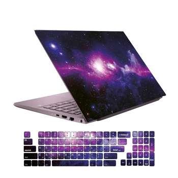 استیکر لپ تاپ گراسیپا طرح فضایی مناسب برای لپ تاپ 15 اینچی به همراه برچسب حروف فارسی کیبورد