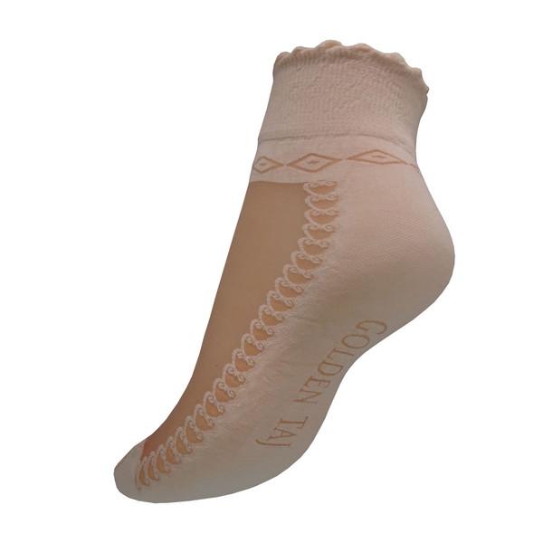 جوراب زنانه گلدن تاج کد T2-CRE