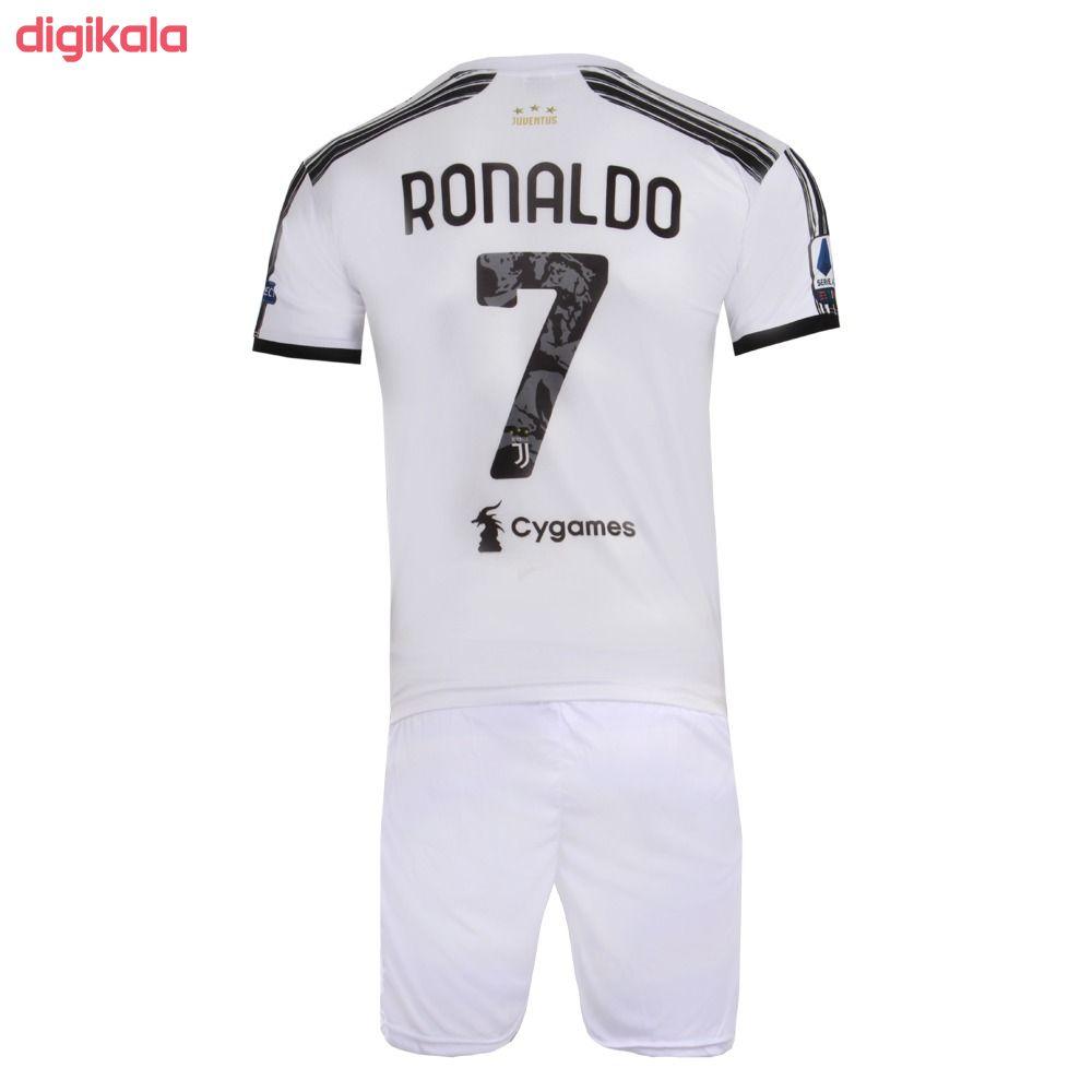 ست پیراهن و شورت ورزشی پسرانه طرح یوونتوس مدل رونالدو 2021 main 1 1