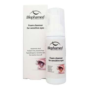 فوم پاک کننده آرایش چشم بلفامد مدل sensitive حجم 50 میلی لیتر