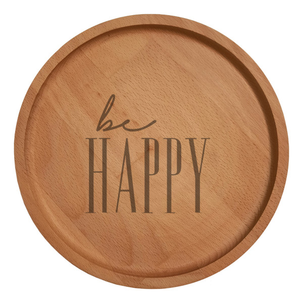 بشقاب چوبی مدل Be Happy 6017