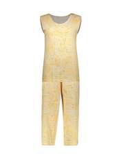 ست تاپ و شلوارک زنانه کد 0217 رنگ زرد -  - 1