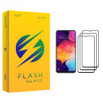محافظ صفحه نمایش فلش مدل +HD مناسب برای گوشی موبایل سامسونگ Galaxy A50 بسته سه عددی