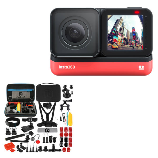 دوربین فیلم برداری ورزشی اینستا 360 مدل ONE R Twin Edition به همراه لوازم جانبی پلوز