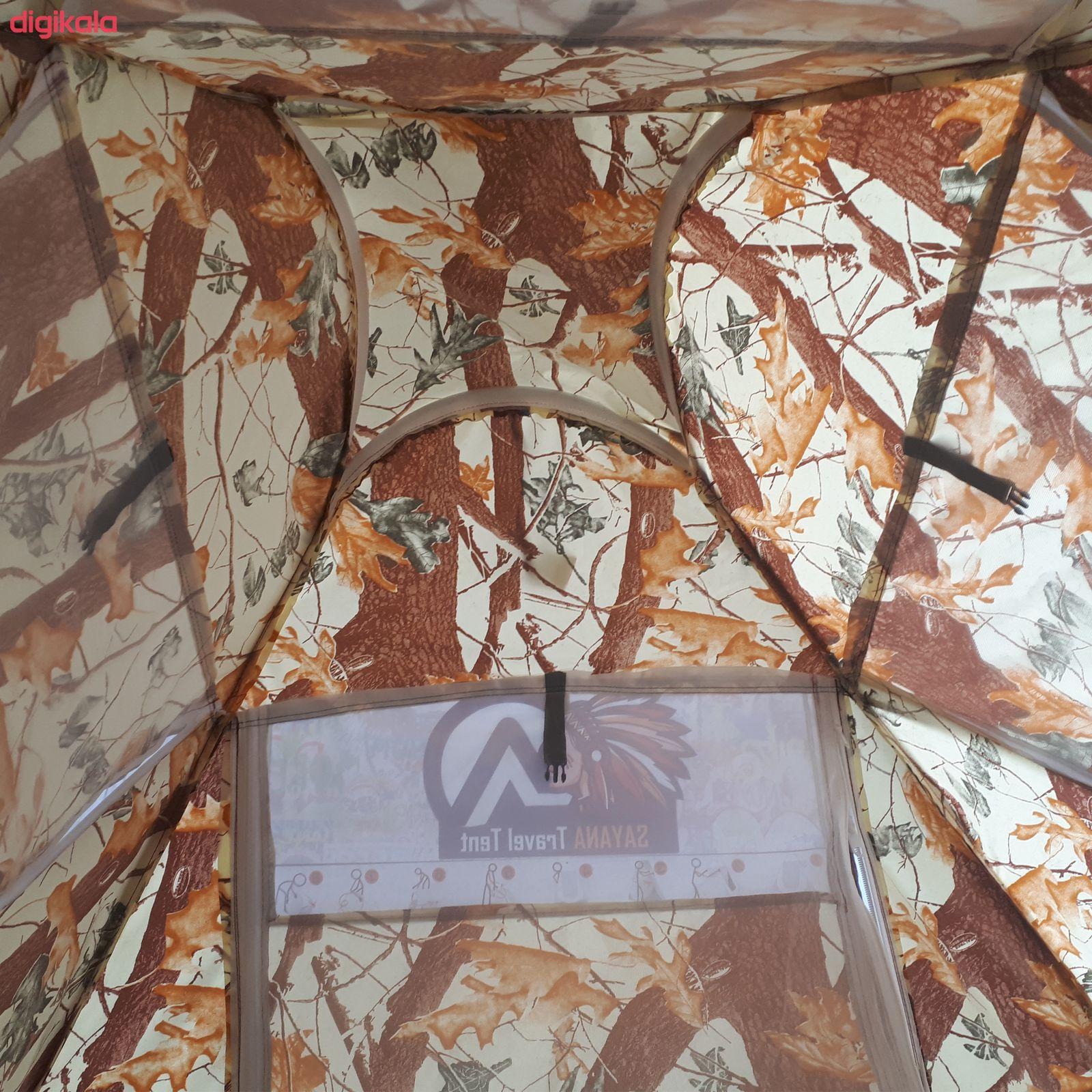 چادر مسافرتی 12 نفره سایانا مدل جنگلی main 1 5