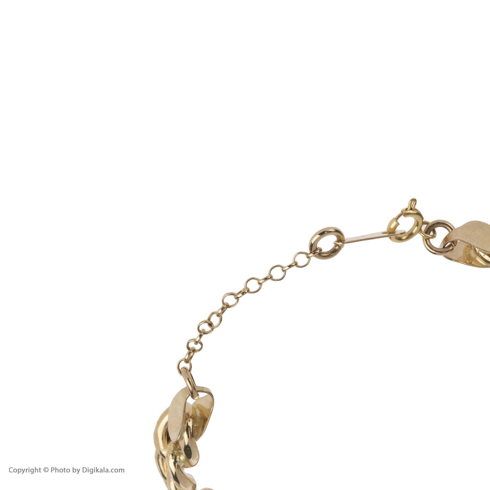 دستبند النگویی طلا 18 عیار زنانه مایا ماهک مدل MB1049 -  - 5