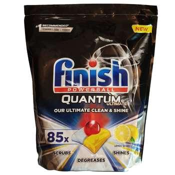 قرص ماشین ظرفشویی فینیش مدل Quantum Ultimate Leamon بسته 85 عددی