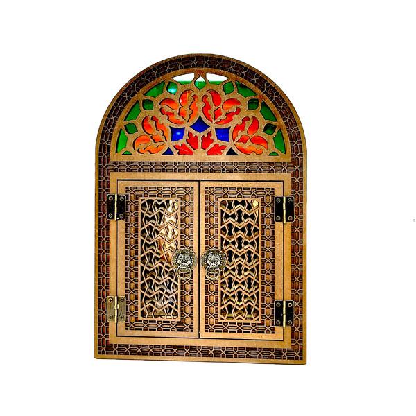 آینه چوبی مدل درب دار کد 40