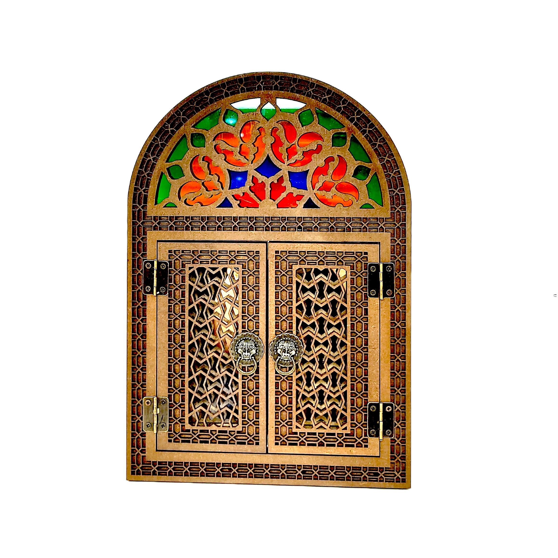 آینه چوبی مدل درب دار کد 30