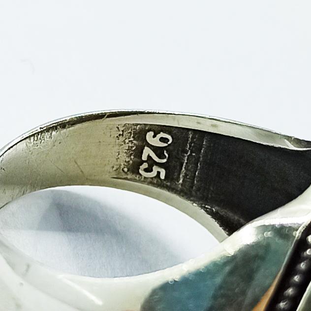 انگشتر نقره مردانه سلین کالا مدل عقیق ce-As101