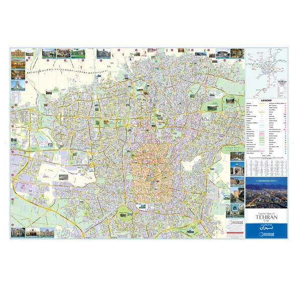 نقشه گردشگری شهر تهران گیتاشناسی نوین کد 1519
