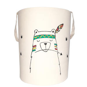 سبد اسباب بازی مدل خرس سرخپوست