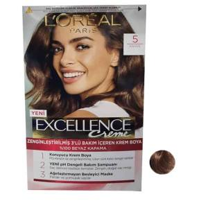 کیت رنگ مو لورال سری enceexcell شماره 5 حجم 48 میلی لیتر رنگ قهوه ای تیره