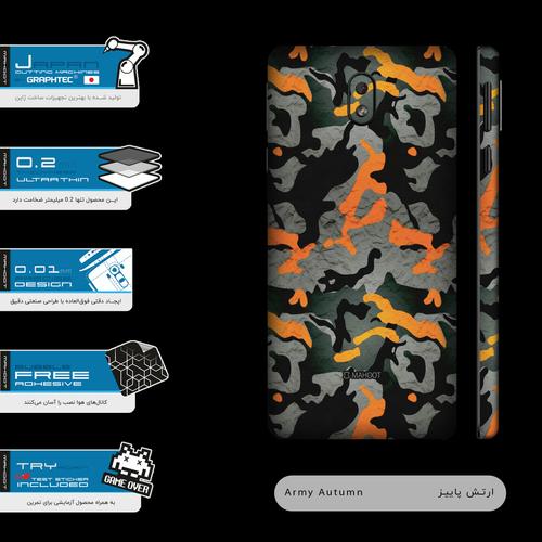 برچسب پوششی ماهوت مدل Autumn-Army-FullSkin  مناسب برای گوشی موبایل نوکیا 1 Plus