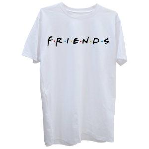 تی شرت آستین کوتاه زنانه طرح فرندز کد Z84