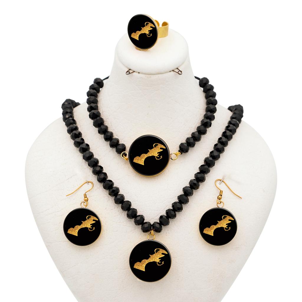 ست طلا 24  عیار زنانه مدل آلتین هنر طرح بهمن کد 10011M