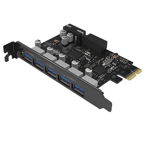 هاب USB3.0 پنج پورت  PCI-E اوریکو مدل PVU3-5O2I-V1