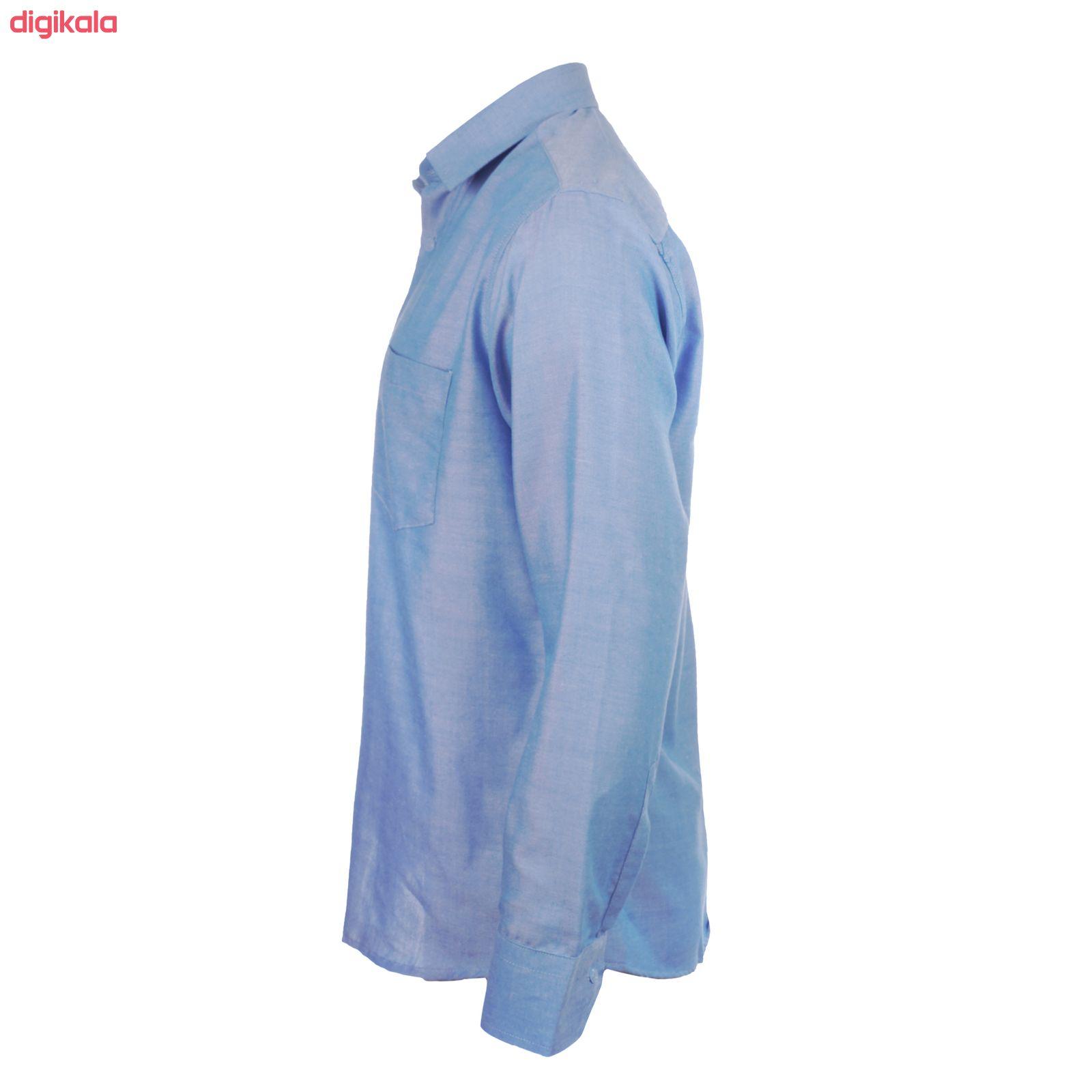 پیراهن آستین بلند مردانه ناوالس مدل Pk3-8020-BL main 1 2