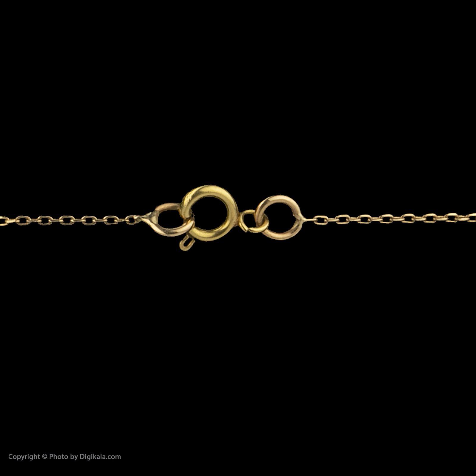 گردنبند طلا 18 عیار زنانه سنجاق مدل x089828 -  - 5