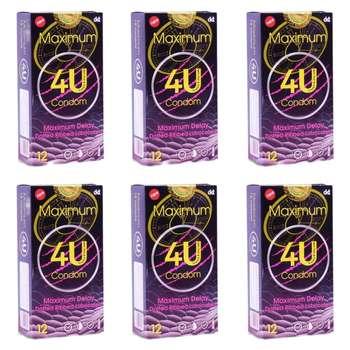 کاندوم فور یو مدل Maximum مجموعه 6 عددی