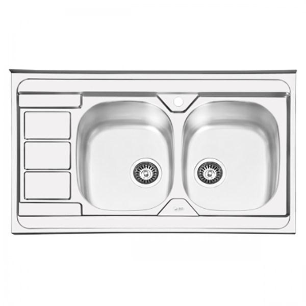 سینک ظرفشویی ایلیا استیل مدل 1051 روکار