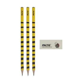مداد مشکی فکتیس سری Insects مدل Honey Bee بسته 3 عددی