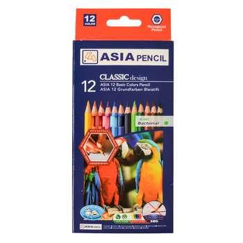 مداد رنگی 12 رنگ آسیا مدل A-12