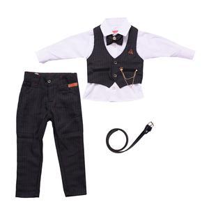 ست 5 تکه لباس پسرانه مدل MA-SP81095-SET.RS.P-ZO رنگ زغال سنگی