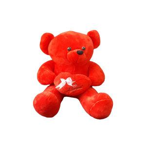 عروسک طرح خرس مدل love ارتفاع 100 سانتی متر
