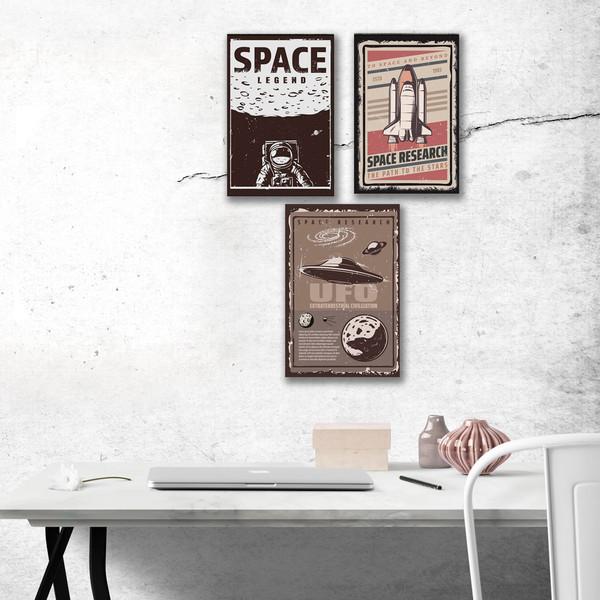 تابلو شاسی طرح Space مدل AT036 مجموعه 3 عددی