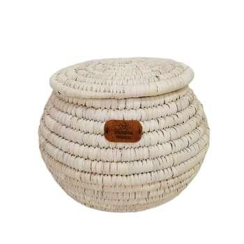 سطل برنج حصیری مدل خمره ای کد 5