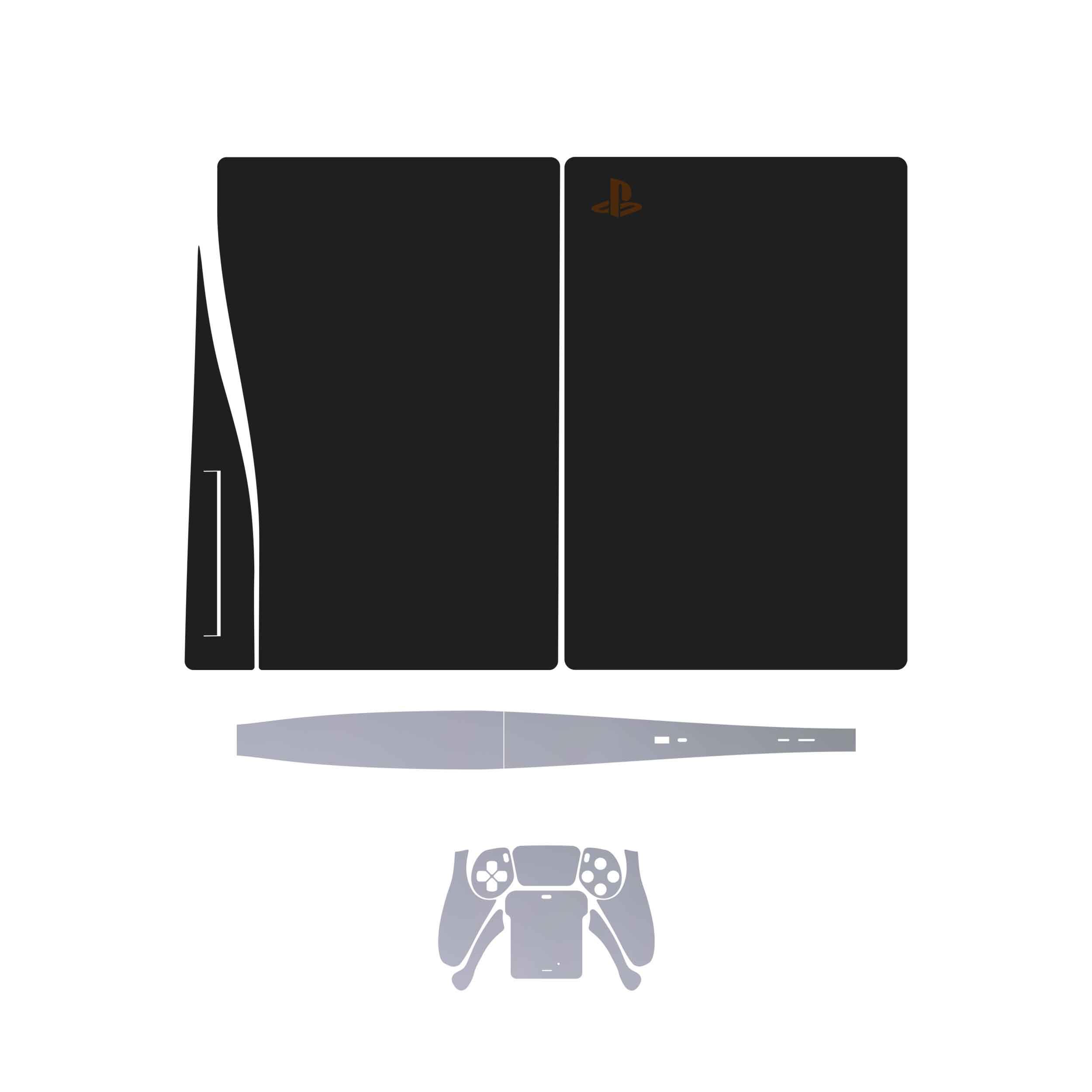 بررسی و {خرید با تخفیف}                                     برچسبکنسول و دستهبازی PS5ماهوت مدل  MatteBlackMatteSilver                             اصل