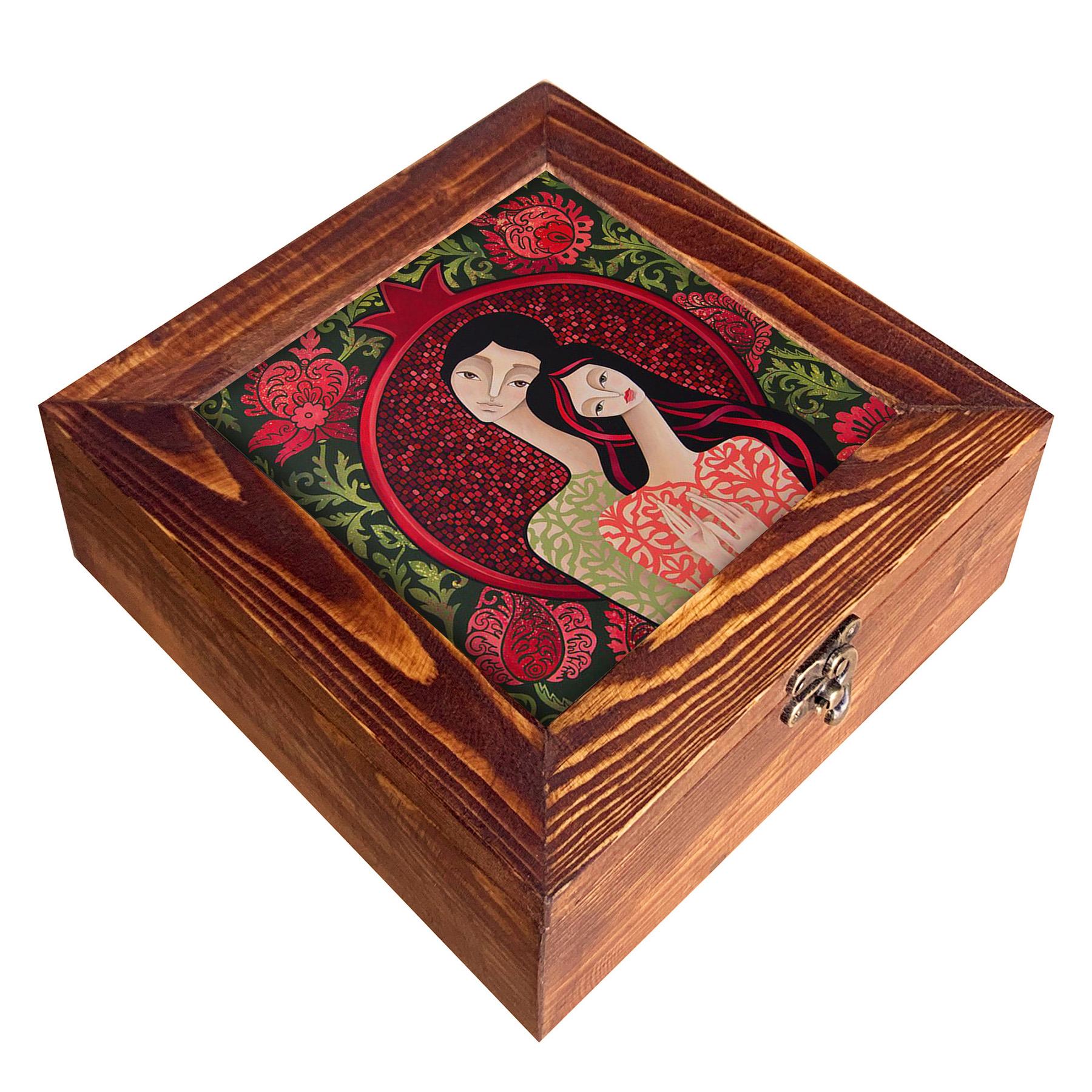 جعبه هدیه چوبی مدل     CG101