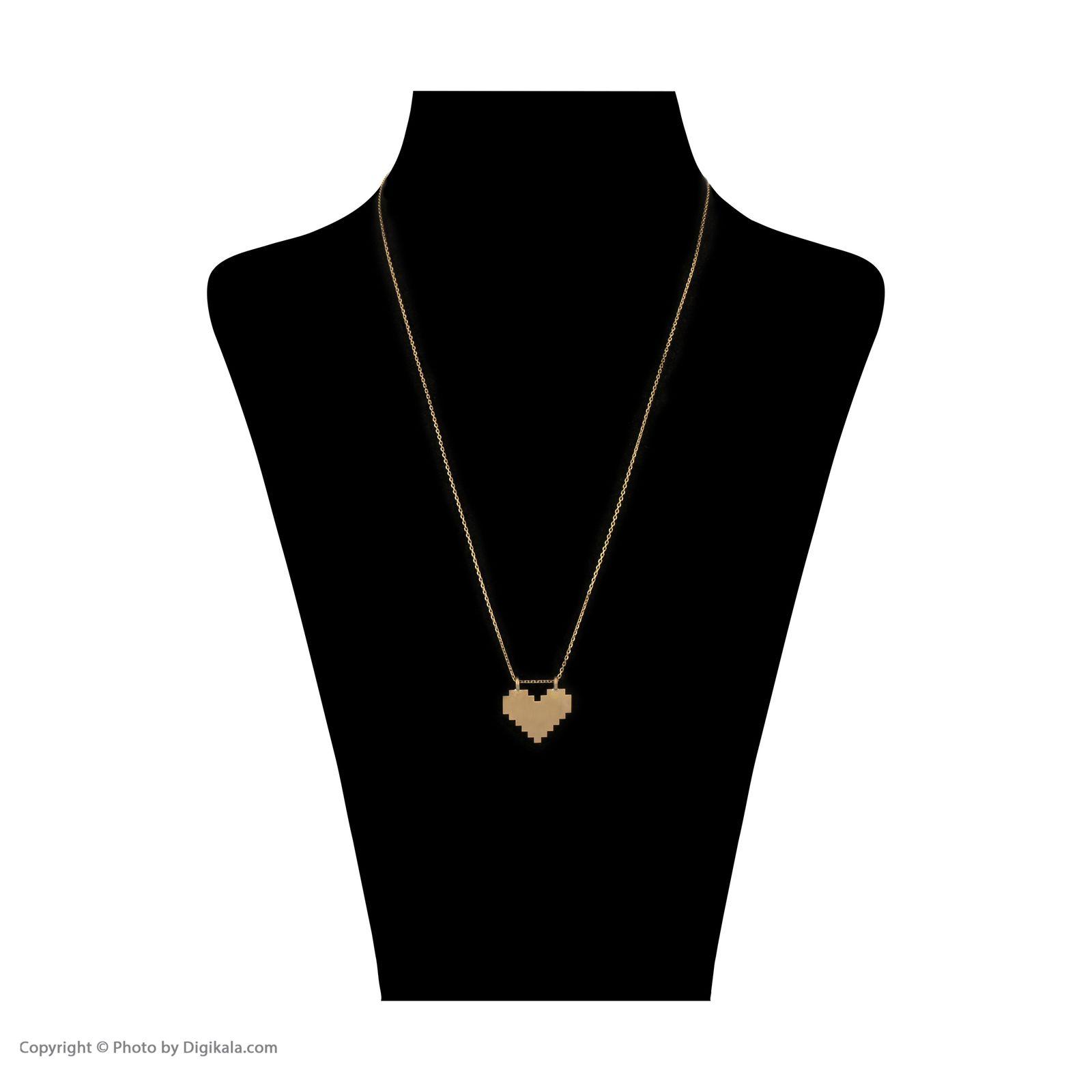 گردنبند طلا 18 عیار زنانه سنجاق مدل X083679 -  - 2
