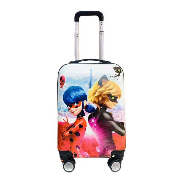 چمدان کودک مدل دختر کفشدوزکی کد 3